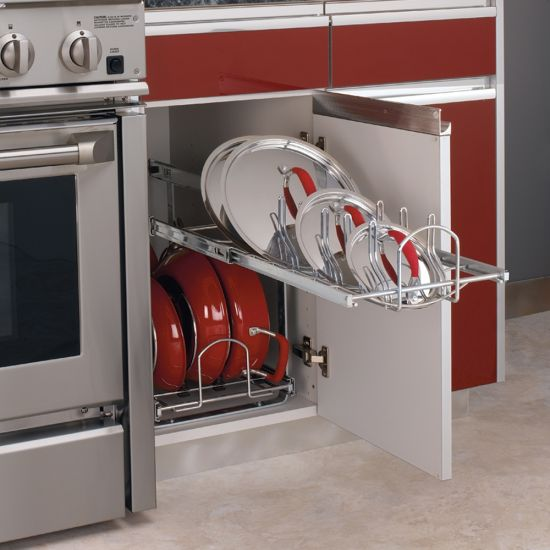 Rev-A-Shelf Two-Tier Soft-Close Pull-Out Cookware Organizers