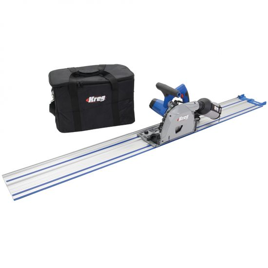 Produce arrow-straight, splinter-free cuts at any angle—includes a 62'' Kreg Guide Track and padded carrying bag.
