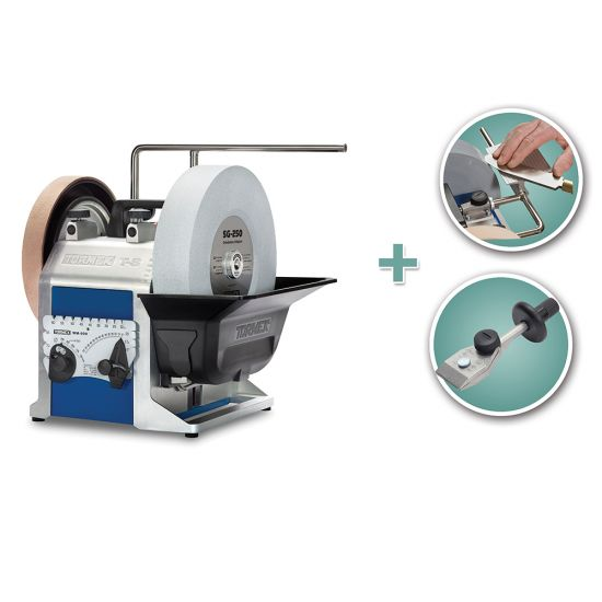Tormek T-8 Sharpening System with Knife Jig and Tool Rest Jig