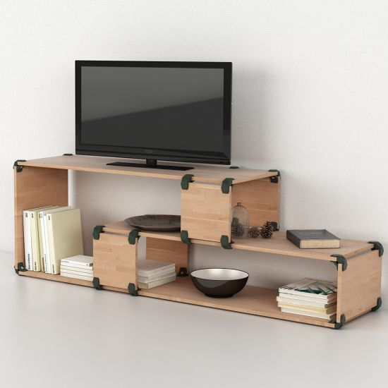 Playwood connectors are an ingenious modular system for creating shelving systems, seating, knock-down tables and whatever else your imagination can dream up.