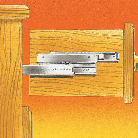 """150-lb. Over-Travel Drawer Slide - Accuride 4034 (14"""" to 28"""")"""