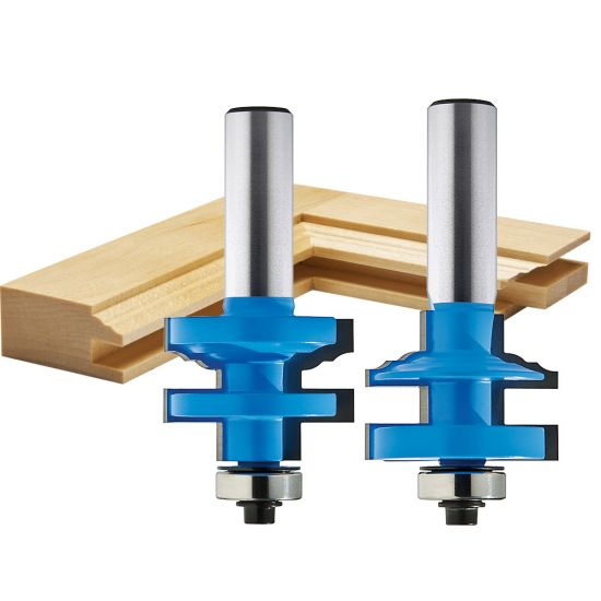 """Rockler Classical Stile and Rail Router Bit - 1-3/8"""" Dia x 1"""" H x 1/2"""" Shank"""