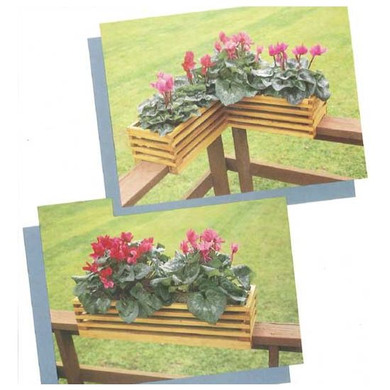 Lattice Rail Flower Box Is A Superb Addition To Decks: Woodworker's Journal Two Deck Railing Planters Plan