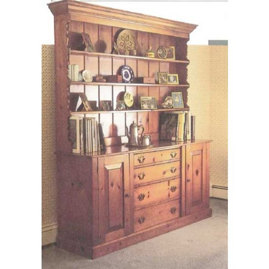 Woodworkeru0027s Journal Classic Pine Hutch Plan   Rockler Woodworking And  Hardware