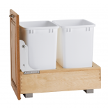 White Double 35 Quart Containers
