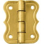 """Brass-Plated Small Decorative Butterfly Small-Box Hinge 3/4""""L x 5/8""""W"""