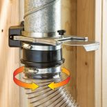 The 4'' Swivel connecting tubing with arrows showing movement