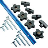 The Rockler 17-Piece Universal T-Track Kit