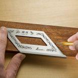 Make perfect 45� marks for picture frames, molding, and more.