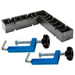 Silhouette shot of the Rockler Universal Fence Clamps with Clamp-It® Square