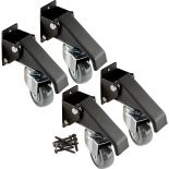 Close up look at the four pack of casters and included screws