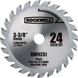 46520 - Rockwell VersaCut 3-3/8' 24T Carbide-Tipped Saw Blade (RW9231)