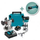 Makita 18V Cordless Lithium-Ion Compact Router Kit with Oscillating Multi-Tool