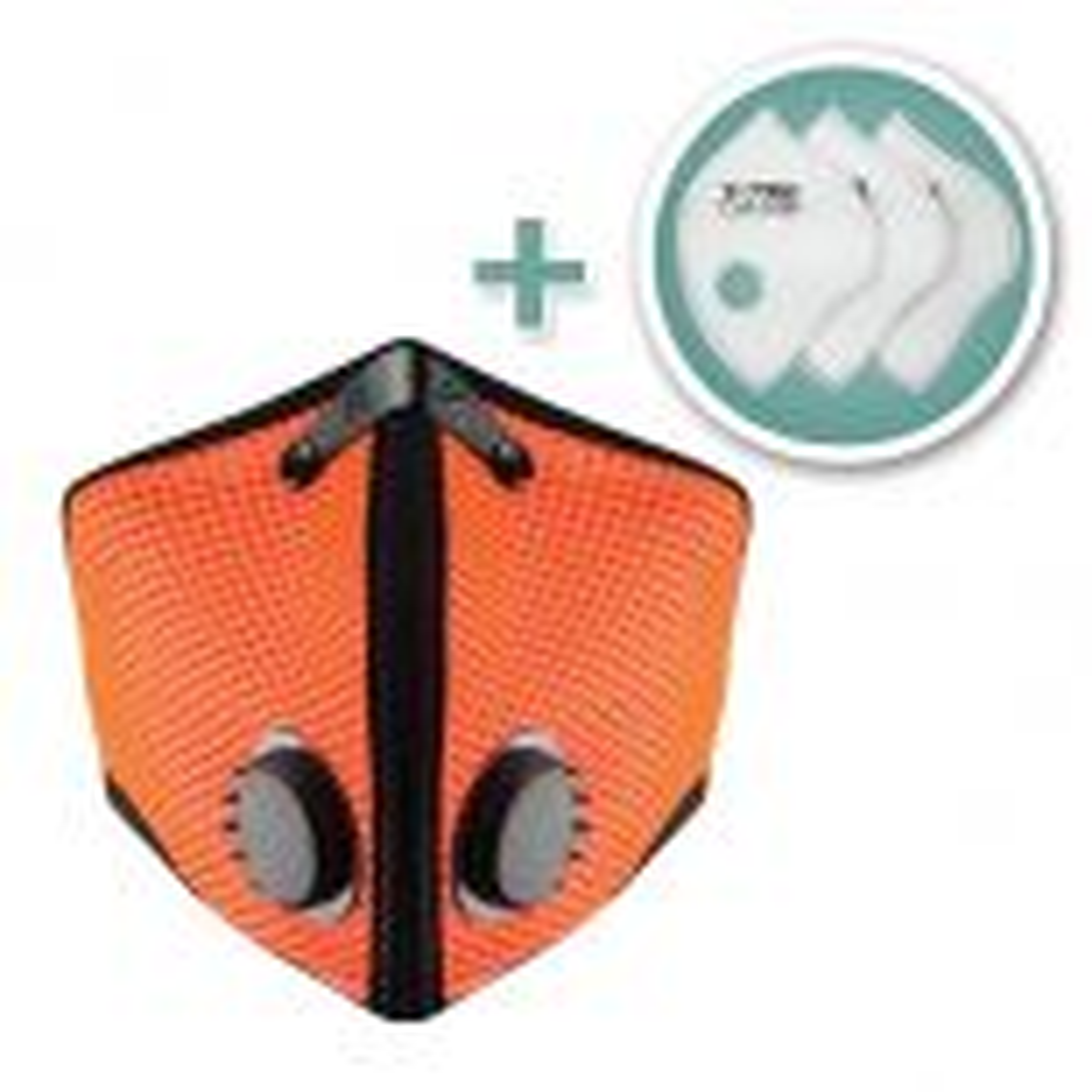 M2 Mesh Face Masks with Bonus 3-Pack HEPA Filters, Safety Orange