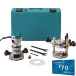 Makita RF1101KIT2 2-1/4 HP Variable-Speed Plunge Router Kit