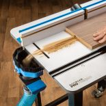 Dust Right Router Table Dado Dust Chute in use