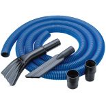 Tubing and included pieces in the 12' Heavy-Duty Shop Vacuum Hose Kit