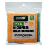 Silhouette photo of the 12'' x 12'' Microfiber Cleaning Cloths, 4-Pack.