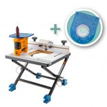 The Triton Oscillating Spindle Sander with Convertible Benchtop Router Table, Sander Plate and Mid-Size Router Plate