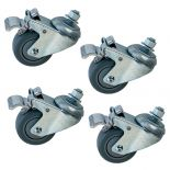 Enjoy smooth-rolling mobility with this set of 4 heavy-duty casters from Jet.