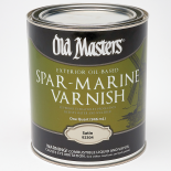 Old Masters Exterior Oil-Based Spar Marine Varnish, Quart, Satin