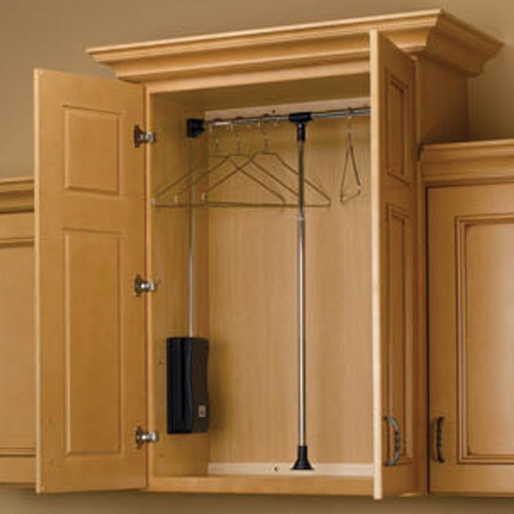 Pull Down Closet Rods Cpdr Series Rockler Woodworking And Hardware