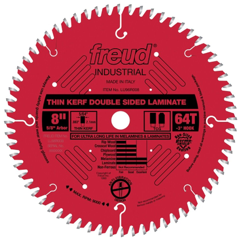 Freud 174 Lu96r Industrial Thin Kerf Double Sided Laminate