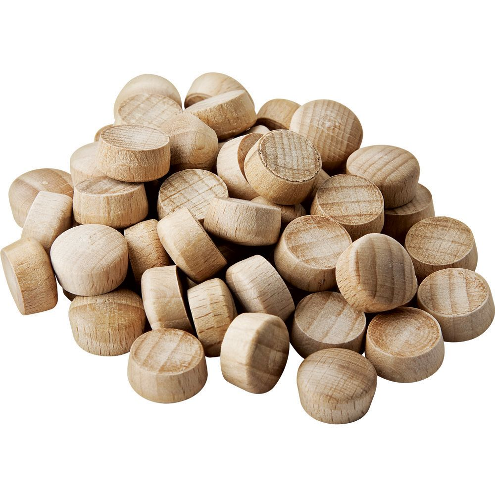Dome Top Wood Plugs 1 2 Diameter Rockler Woodworking And Hardware