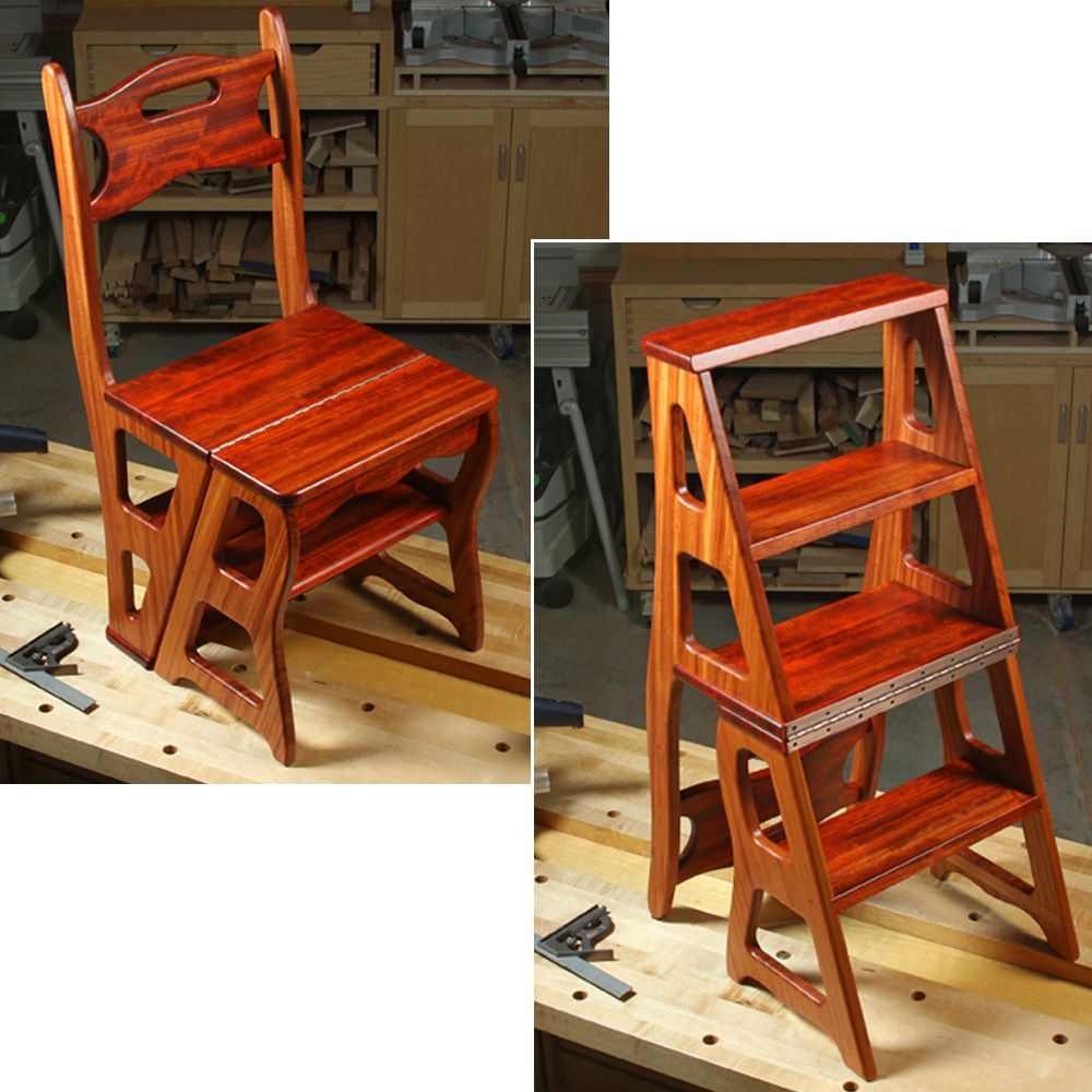 Woodworker S Journal Convertible Step Stool Amp Chair Plan
