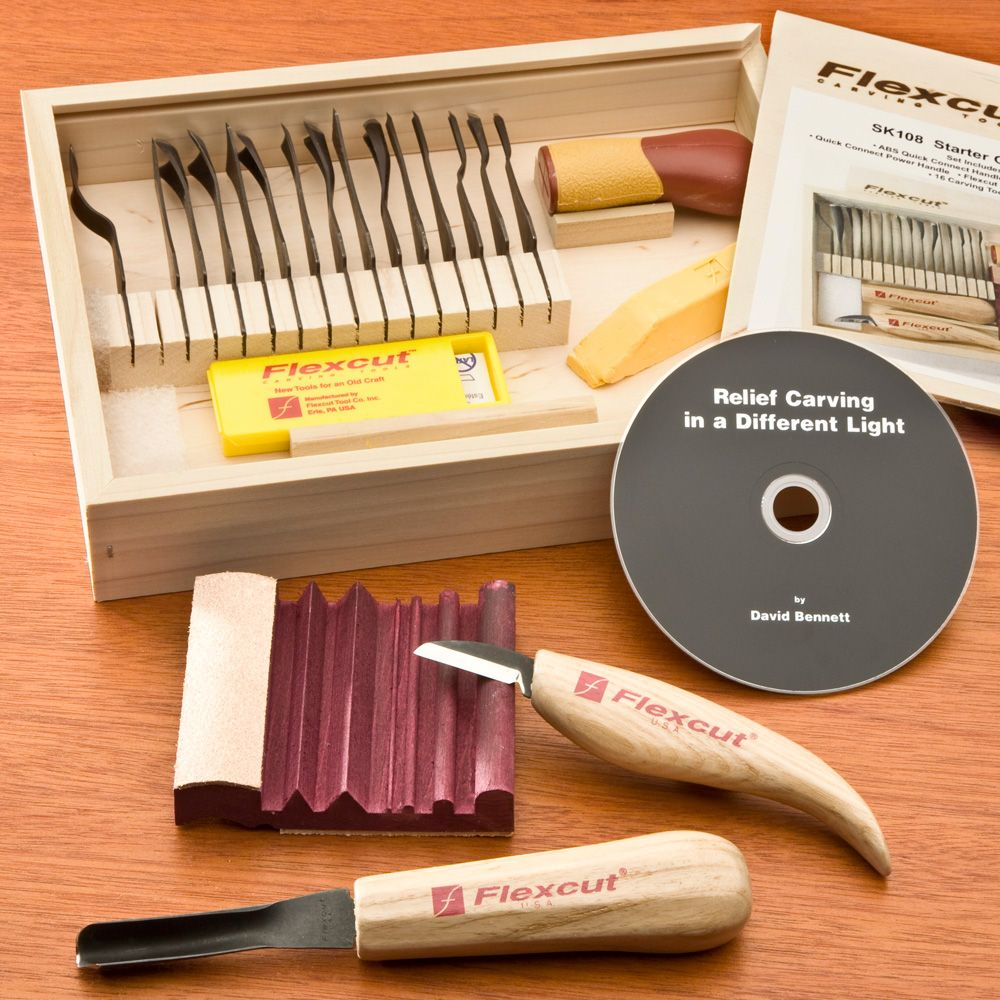 Flexcut piece starter set model sk rockler woodworking