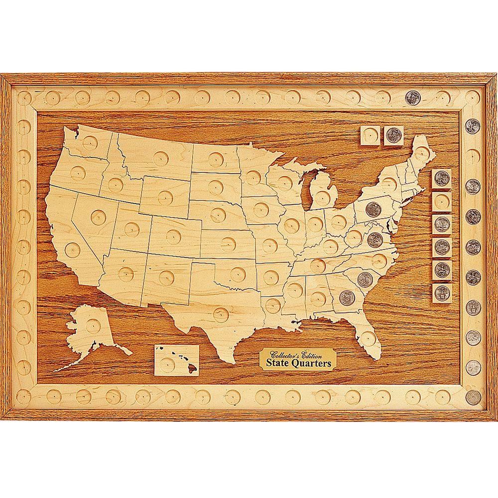 Collection Board Plan Rockler Woodworking And Hardware - Us-map-for-quarters