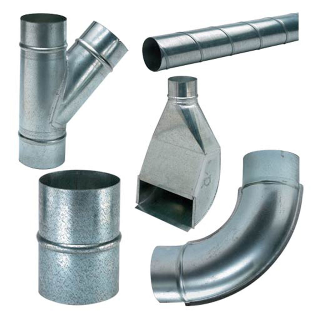 Spiral Pipe And Fittings For Dust Collection System Pipes