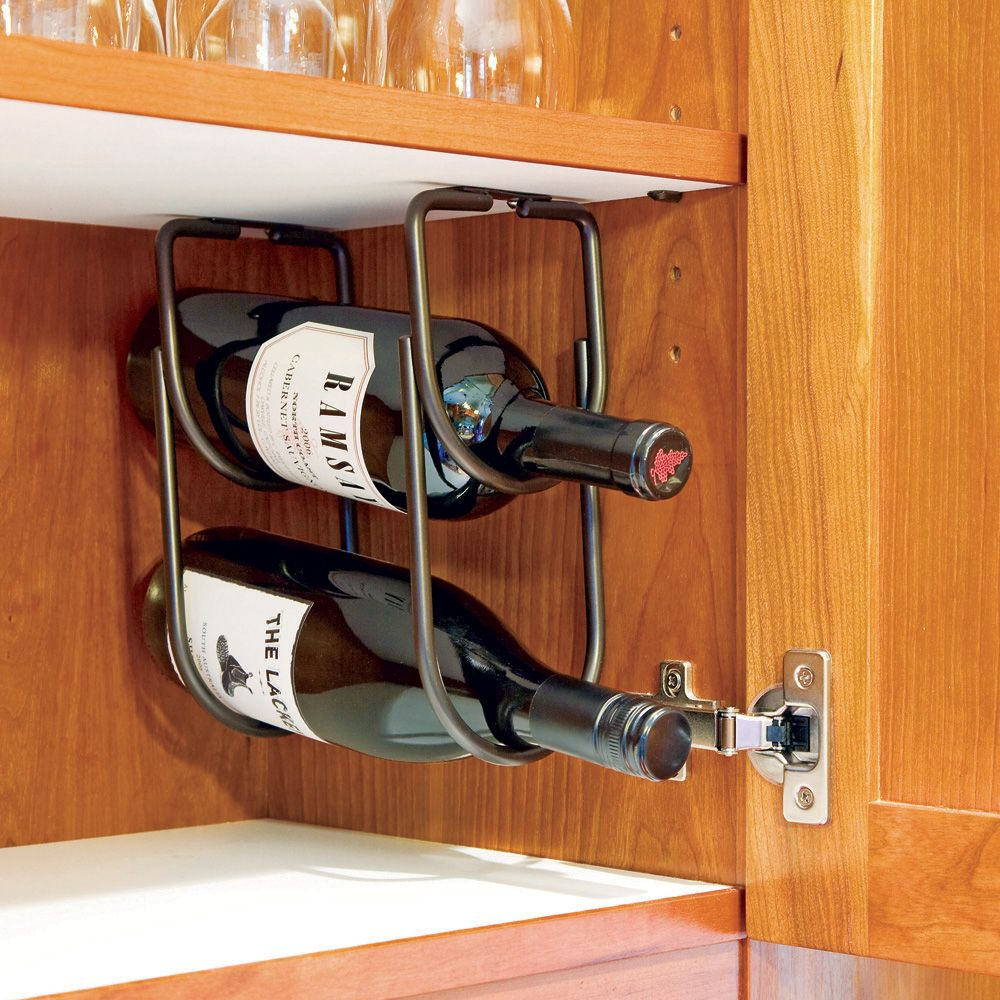 Rev A Shelf Under Cabinet Wine Bottle Rack 3250 Series Rockler