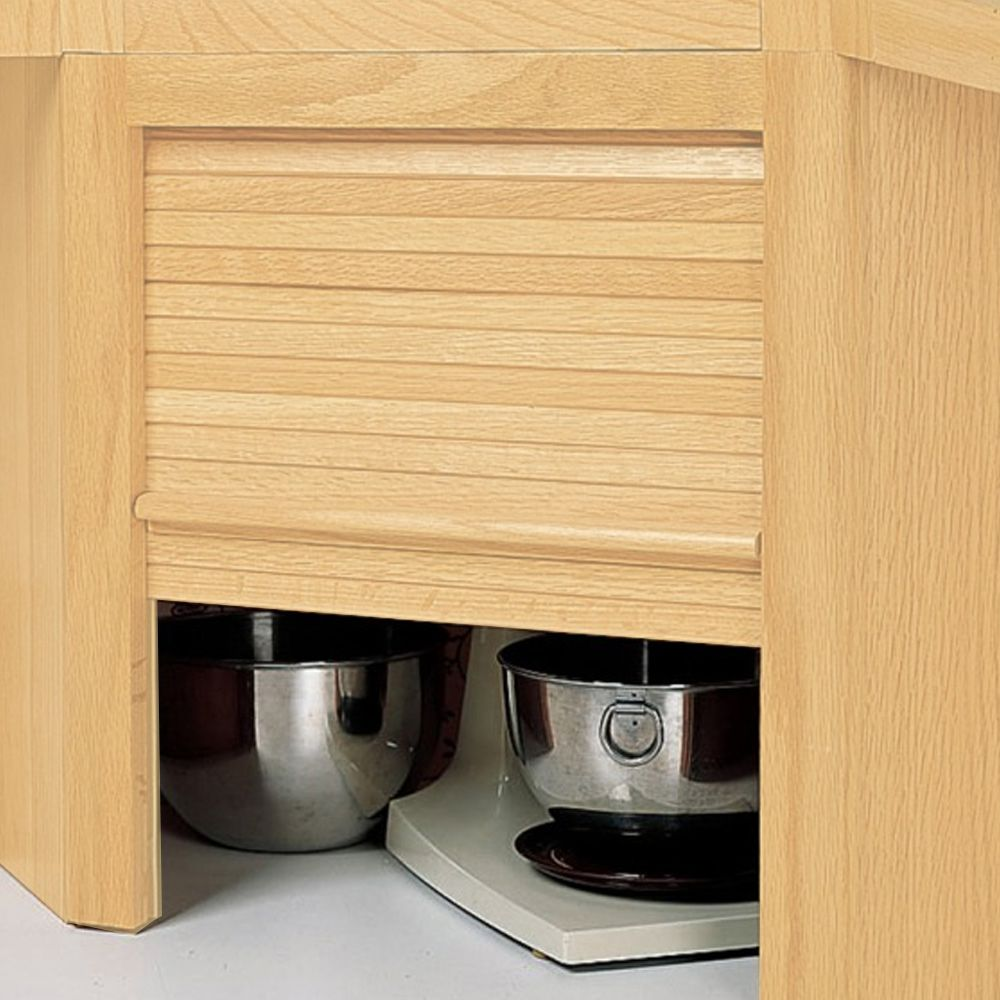 hardwood appliance garage with tambour door kit hardwood appliance rh rockler com
