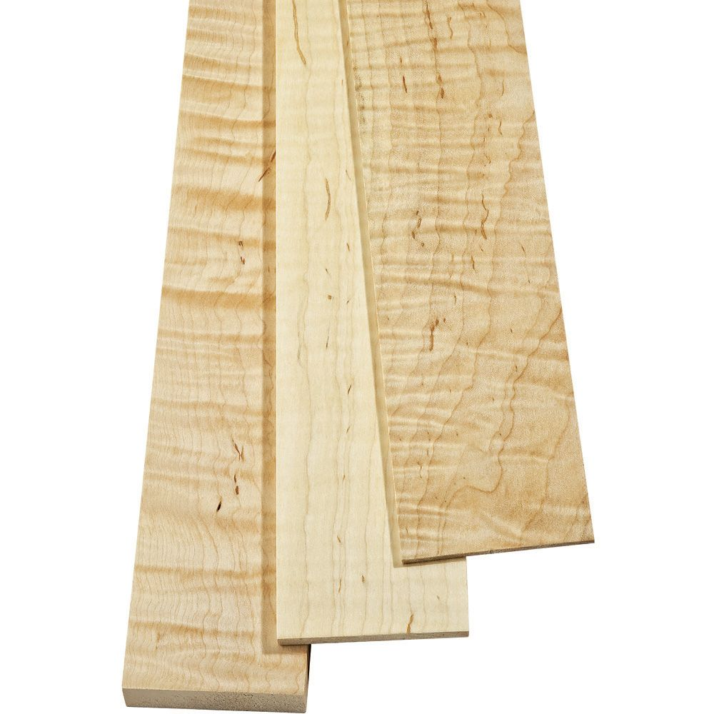 Curly Maple Sold By The Piece 34 Thickness Rockler Woodworking