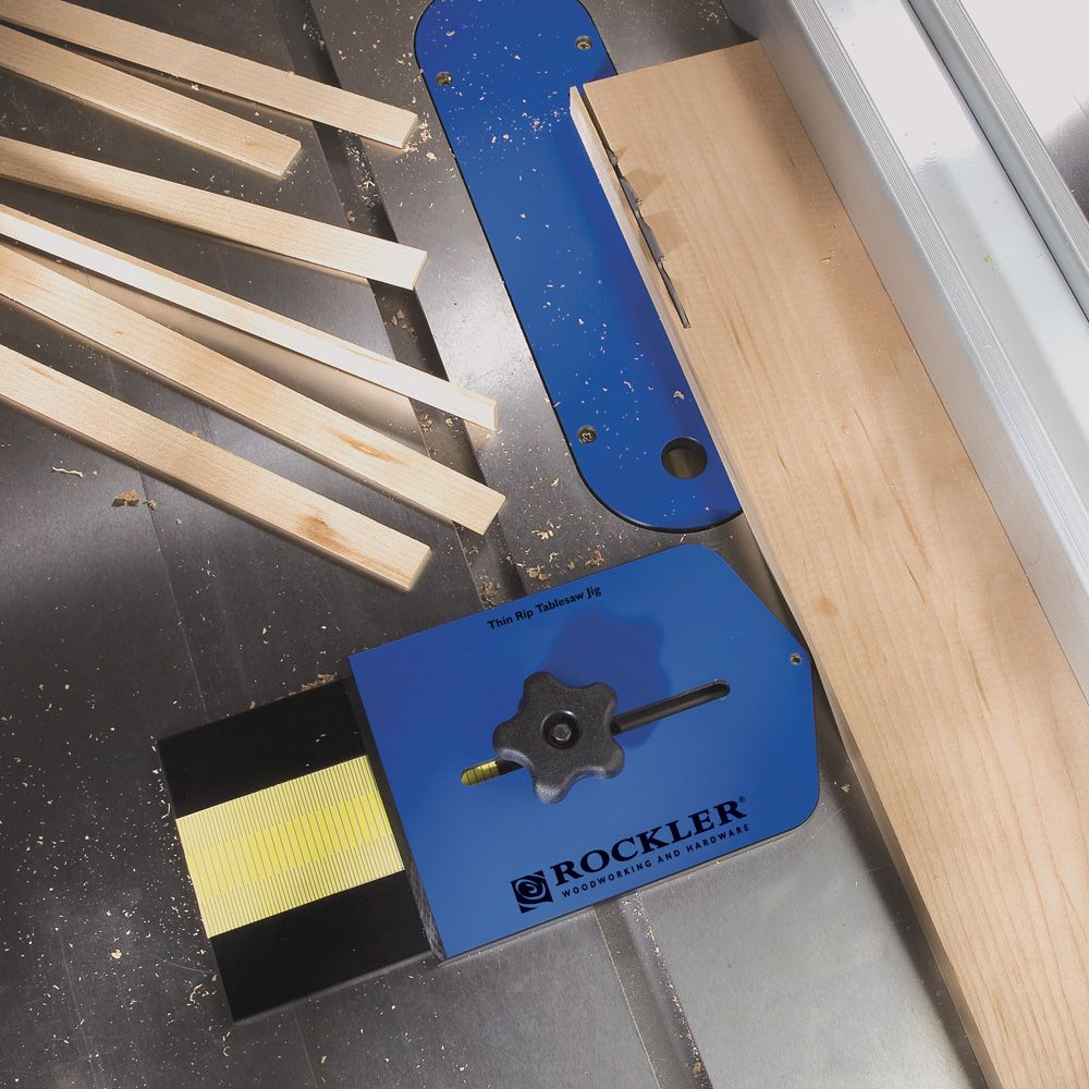 Thin Rip Tablesaw Jig Rockler Woodworking And Hardware