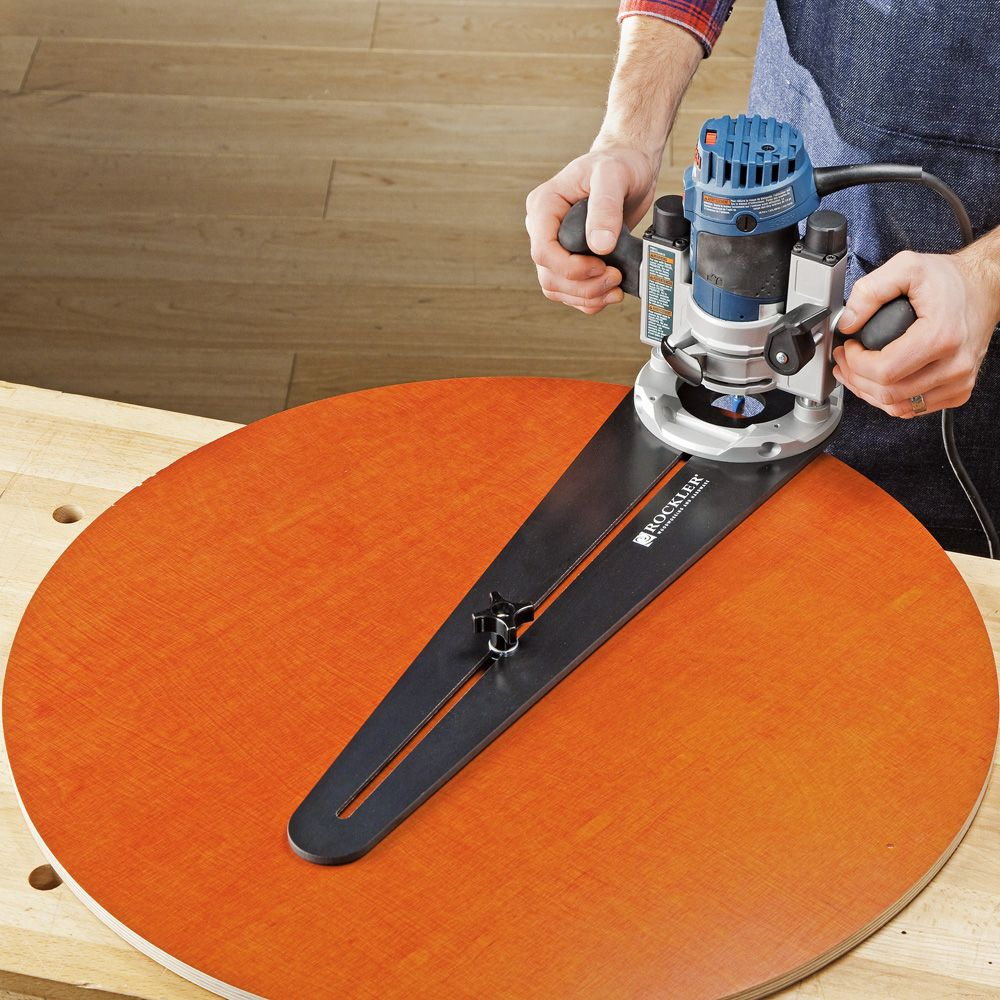 Trim Router Circle Jig Rockler Woodworking Tools