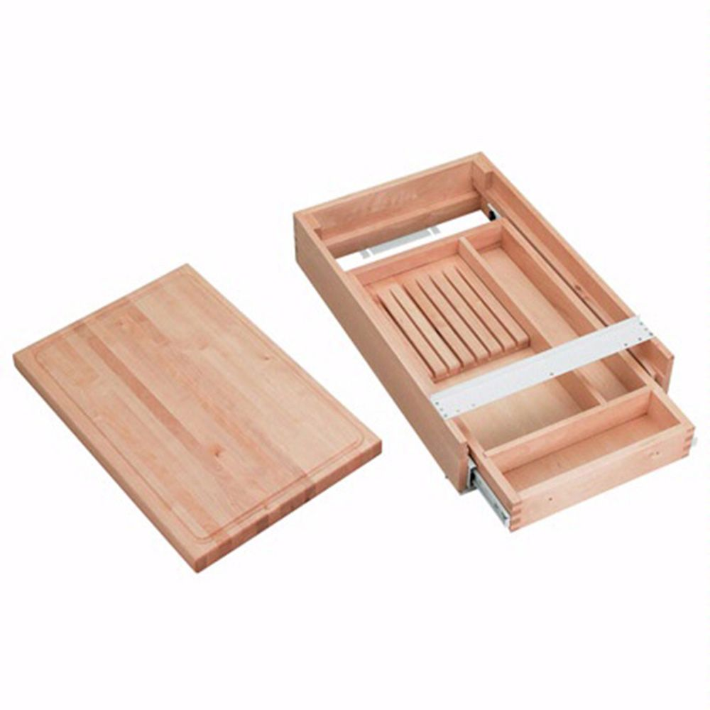 Complete Drawer System For Knives W Cutting Board Rev A