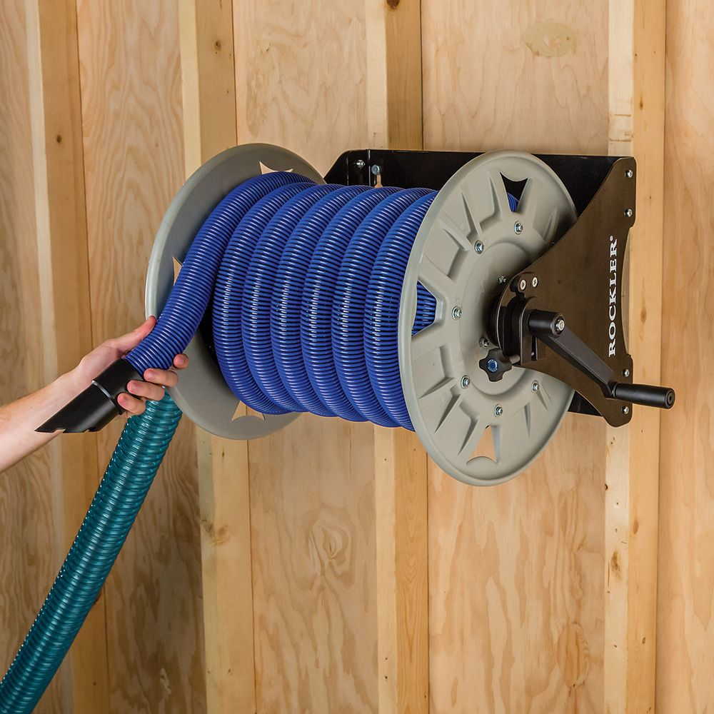 Flexible Garage Wall Storage: Dust Right® Shop Vacuum Hose Reel