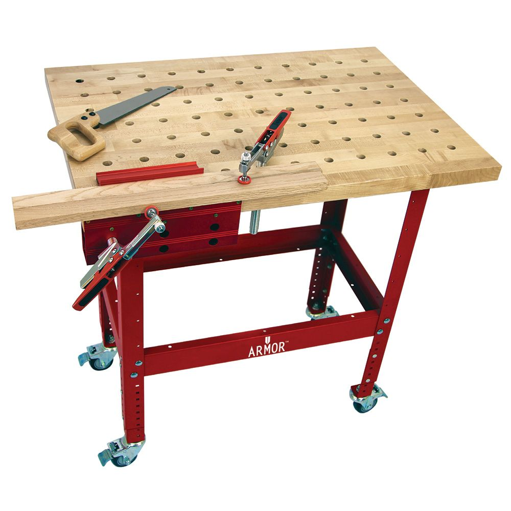 Buy Butcher Block Table Top: Armor Butcher Block Clamping Table Kits