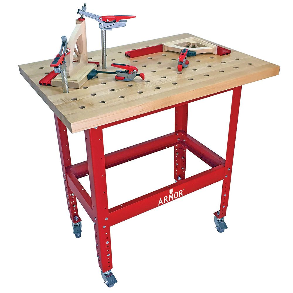 48x24 Butcher Block Table Wicker Baskets: Armor Butcher Block Clamping Table Kits