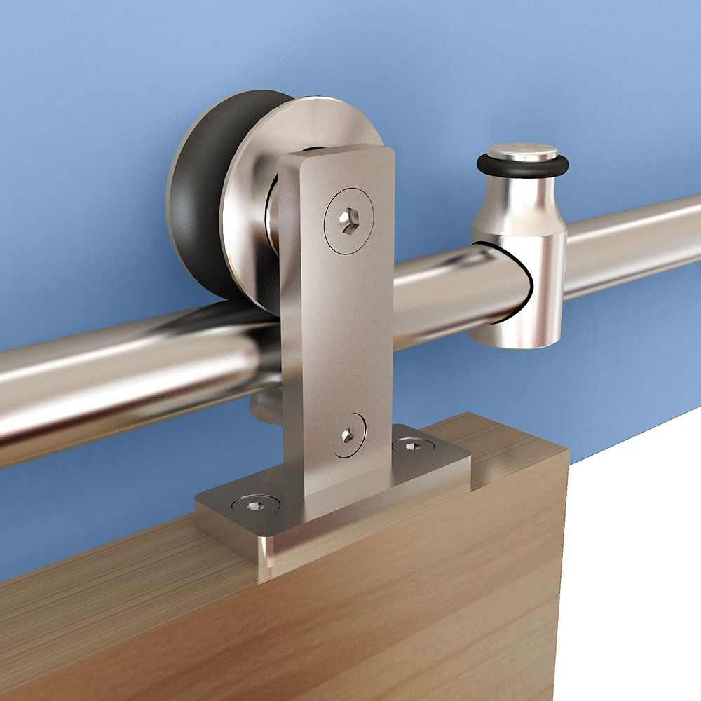 Rolling Barn Door Hardware Kit Stainless Steel Top Mount
