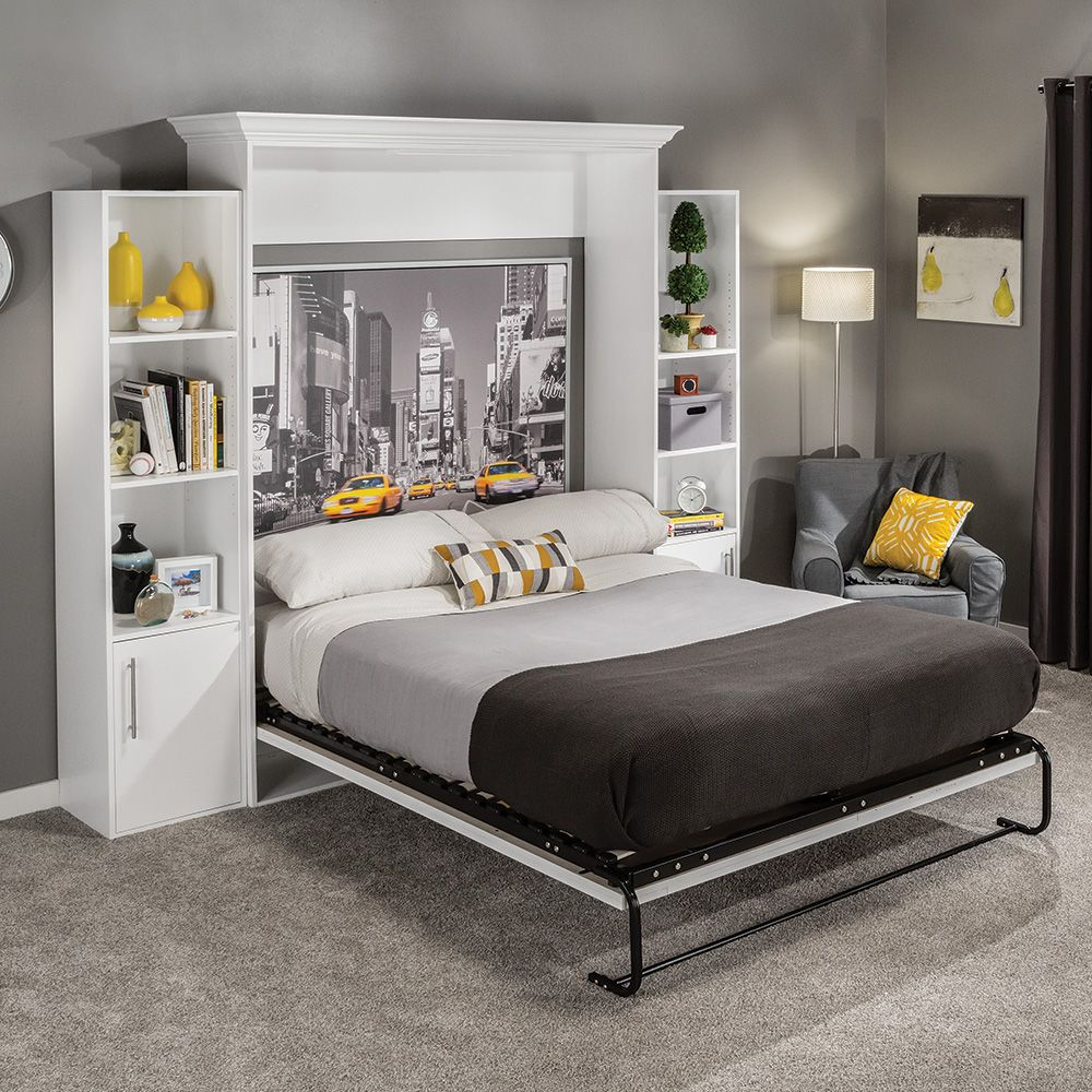 i semble vertical mount murphy bed hardware kits with mattress platforms rockler woodworking. Black Bedroom Furniture Sets. Home Design Ideas