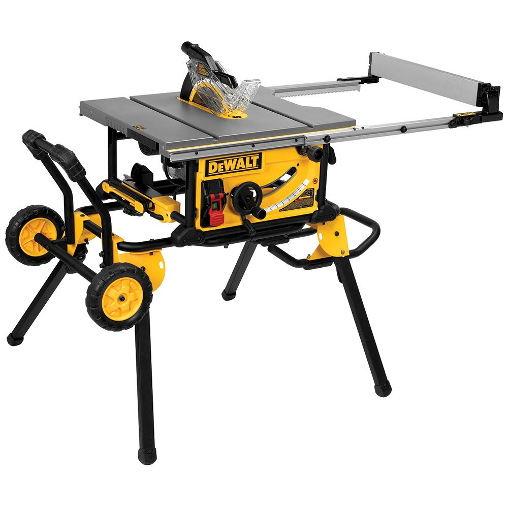 dewalt dwe7491rs 10 jobsite table saw with rolling stand rockler rh rockler com dewalt table saw dwe7491rs review dewalt table saw dwe7491rs assembly