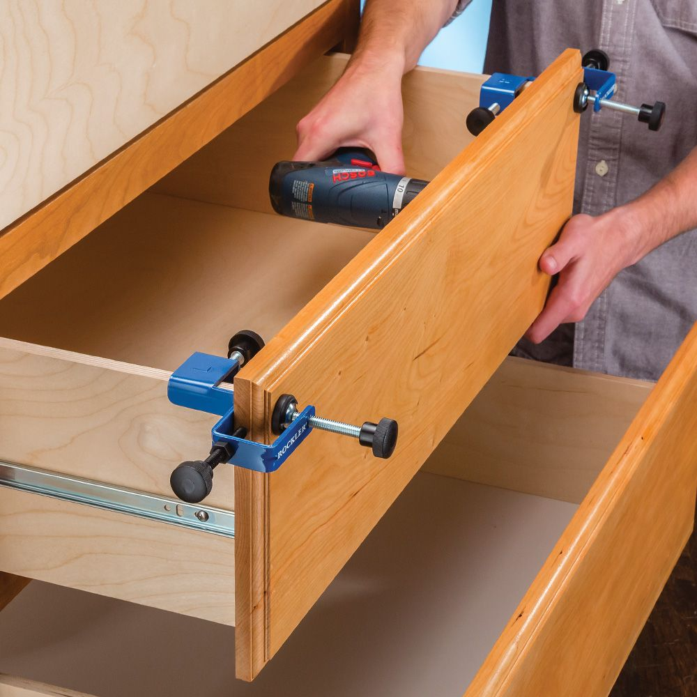 Drawer Front Installation Clamps Rockler Woodworking And
