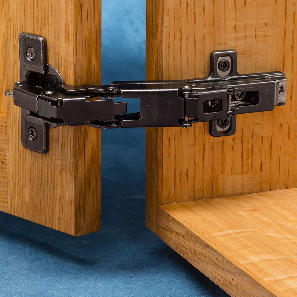 Frameless Kitchen Cabinet Woodworking Plans: Salice 165° Cabinet Hinges, Frameless, Titanium Finish