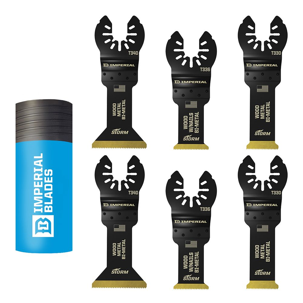 6 Piece Universal Fit Multi Tool Blade Pack STORM Bi Metal TiN