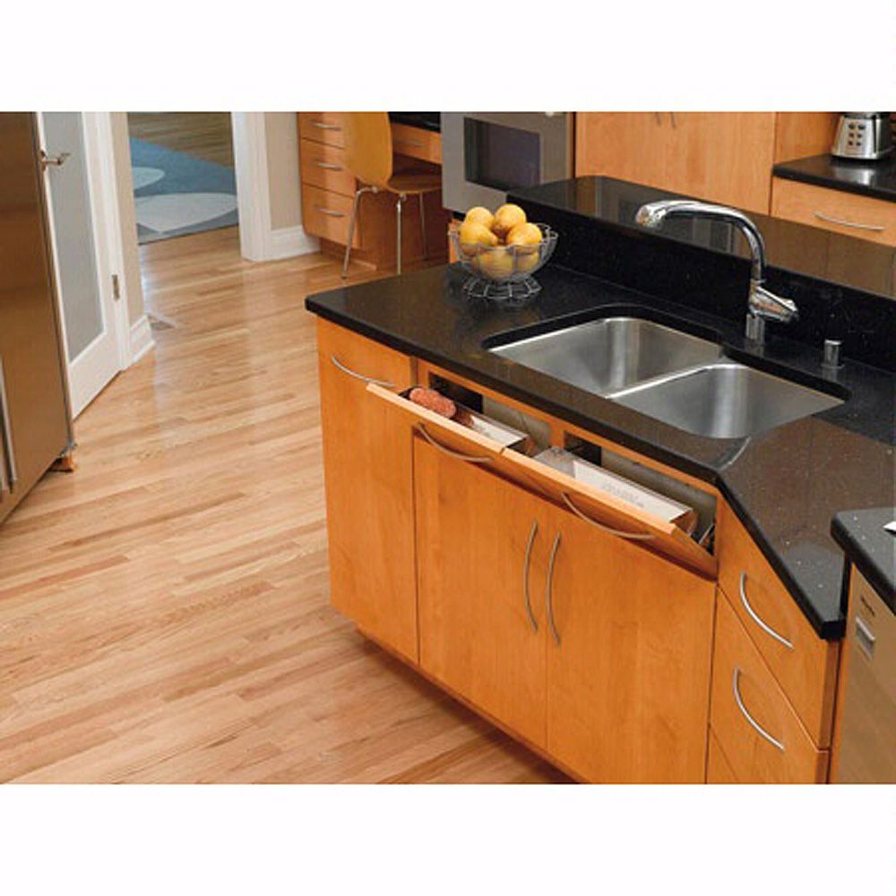 Sink Front Stainless Steel Tip Out Tray Rev A Shelf 6581 Series Tap To Expand
