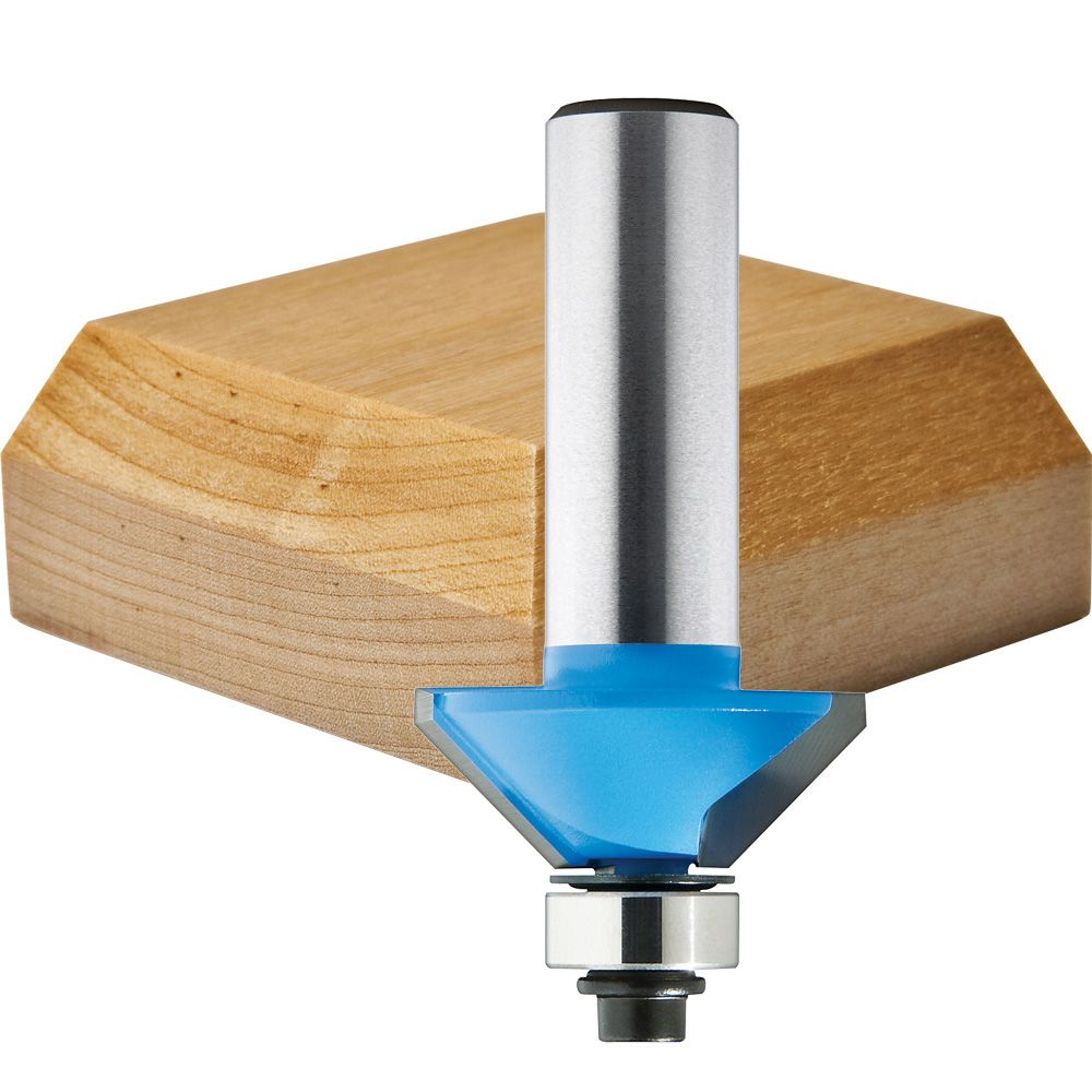 45 Chamfer 1 2 Shank Router Bits Rockler Woodworking And Hardware
