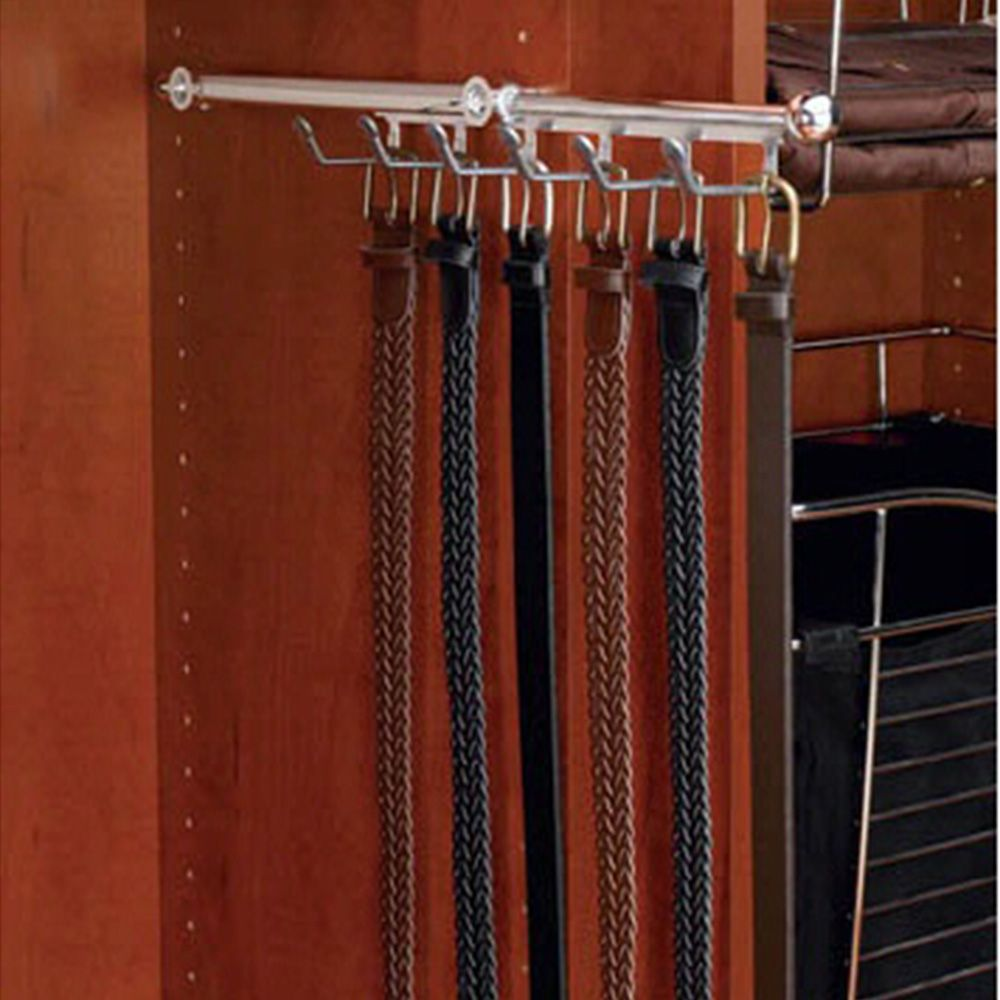 Designer 13 3 4 Belt Scarf Organizer Chrome Metal